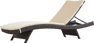 Garry Wicker Adjustable Chaise Lounge with Cushion