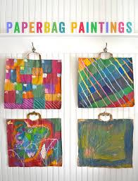 diy paperbag paintings smallforbig com