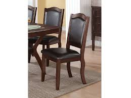 2pcs faux leather dining chair in espresso