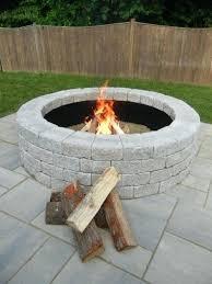 rock fire pit kit wonderful stone block fire pit kits 2 forms of stone fire pit