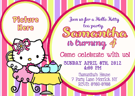 29 New 7th Birthday Invitation Template Hello Kitty Photos