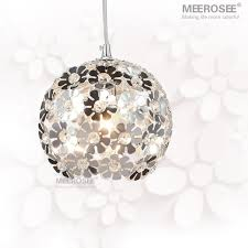 beautiful silver flower crystal pendant lights fixtures aluminum hanging pendant lamp crystal light for dining bedroom