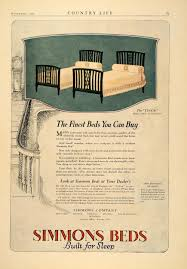 simmons metal furniture. 1921 Ad Simmons Bed Tudor Twin Metal Art Deco Furniture - ORIGINAL CL3