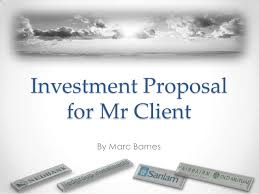 Sample Investment Proposal Enchanting Proposed Investments Example