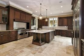 Cabinet And Lighting Love The Stone Floor Color And Pattern Dark Kitchen Cabinets With Light Floors Cabinet Lighting