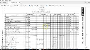 Adjustments For A Worksheet