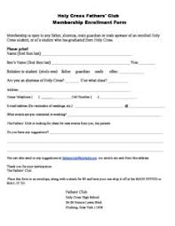 Fathers Club Membership Application Holy Cross High School