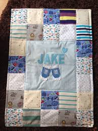 11 best Loobys Memory Blankets images on Pinterest | Quilt and Cot ... & Baby Memory Blanket made out of Jake's old clothes. Adamdwight.com