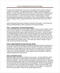 research paper samples premium templates career exploration research paper silvam faculty mjc edu