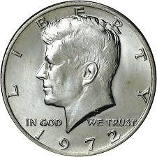 1972 Kennedy Half Dollar Value Chart 1972 50c Ms Kennedy Half Dollars Ngc