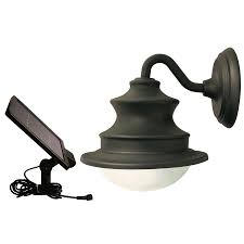 gama sonic barn 10 in h brown solar led outdoor wall light