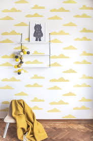 Behang Sweet Clouds Yellow In 2019 All Yellow Gele Kinderkamers