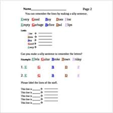 Muscial Staff The Treble Clef Musical Staff Note Naming Worksheet Bundle