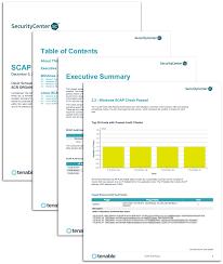 Template Audit Report Scap Audit Report Sc Report Template Tenable
