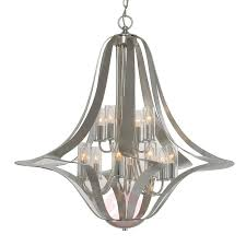 12 light elegant chandelier spiro silver leaf 8532226 01