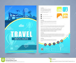 template banner or flyer for tour and travel stock illustration travel brochure template or flyer design royalty stock image