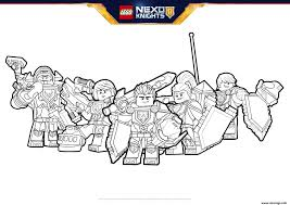 Coloriage Lego Nexo Knights Formation Boucliers Jecolorie Com