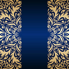 Blue And Gold Design Luxury Blue Background With Ornament Gold Vector 12 Free