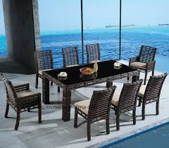 china big synthetic round rattan outdoor garden furniture set with table chair yta607 ytd607 1 china patio chair table garden chair table