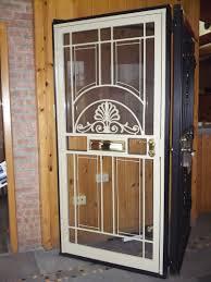 aluminum security screen door. Clearview Retractable Screen Doors Wrought Iron Security Storm Lowes Metal Aluminum Door A