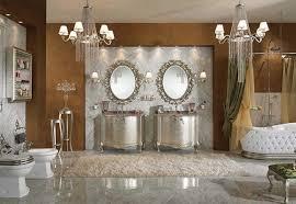 luxury bathrooms designs photos brown marble floor built in storage shelves white round stainless steel towel