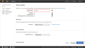 A Receipt Step 3 Set Up A Receipt Rule Amazon Simple Email Service
