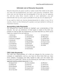Good Resume Words List Of Good Action Words For Resumes Verbs Resume Word