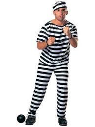 Adult Prisoner Man Costume (Fuller Cut)