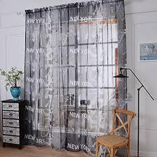 Laitb Fenster Screening Türvorhang Vorhänge New York Druck Gardinen