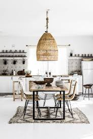 Loving the black, white and rattan look of this vintage modern ...