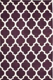 A little tile trellis is such classic pattern. Go subtle with flax/ivory,  or add a little purple power to your room