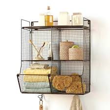 wall shelf with baskets and hooks wire wall storage best wire storage ideas on wire basket wall shelf with baskets and hooks