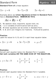 y x a b and c are integers not fractions a should be 10 standard form convert each equation below into standard