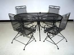 fresh patio table and chair sets or amazing of metal patio set outdoor remodel photos round
