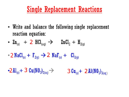 12 ex single replacement reaction