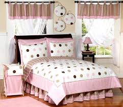 pink and brown modern dots childrens bedding 4 pc twin set only 119 99