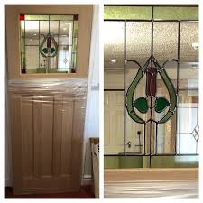 brand new 1930s style stained glass internal door oak wood