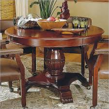 steve silver company tournament 48 wood round casual dining table in cherry finish tu5050tb kit