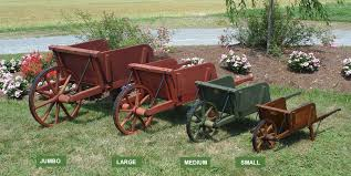 authentic amish wooden wheelbarrows