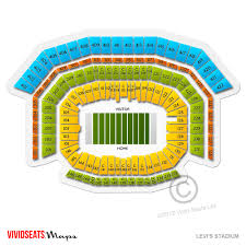 Uc Berkeley Football Stadium Seating Chart Levis Stadium Concert Tickets And Seating View Vivid Seats