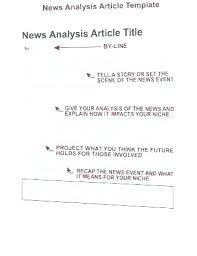 Newspaper Article Summary Template Headline News Template Story Newspaper Luxury 7 Samples