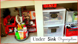 Under Kitchen Sink Organizing How I Organize Under The Bathroom Sink Sensational Finds Youtube