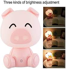 Pink Night Light Night Lights For Kids Baby Night Light Lamps For Night Table Pink Pig Warm White With Led Touch Controls And 3 Kinds Of Brightness Adjustment Baby