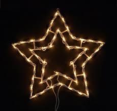 Fensterbild Beleuchtet Lichterkette Stern M Saugnapf