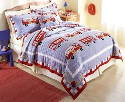 small size of fire engine duvet cover firetruck quilt boys cotton bedding set full queen or