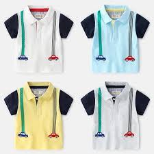 Summer New <b>Kids Boys</b> Striped <b>Polo Tees</b> And Polos Short Sleeve ...