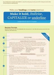 Infographic Resume Fonts Oneswordnet