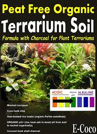 terrarium soil with charcoal for use in glass plastic plant terrariums ready to use 1 litre co uk garden outdoors