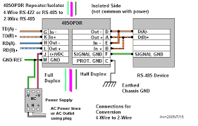 rs232 rs422 485 optically isolated repeaters b b electronics diagram