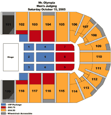 2005 Olympia Seating Charts Orleans Arena
